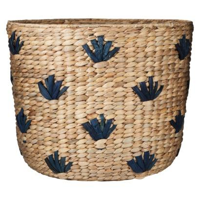 woven seagrass baskets with handles decorative storage boxes.htm nate berkus decorative natural and blue seagrass basket  nate berkus decorative natural and blue