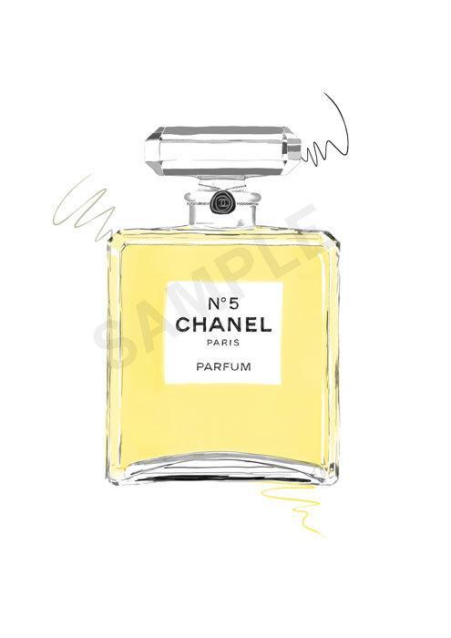 dd6df29beb16 Chanel No 5 Perfume Bottle 24K Gold by ISeeNoise on Etsy