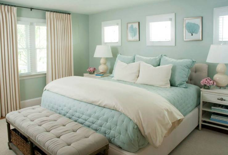 turquoise bedrooms. Turquoise Quilt  Cottage bedroom Liz Carroll Interiors