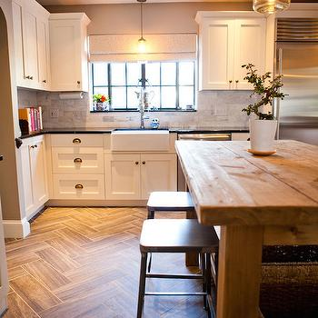 Herringbone Floor, Transitional, kitchen, Tess Fine