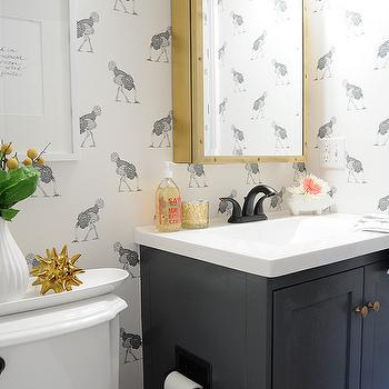 Charcoal Gray Vanity, Eclectic, bathroom, Farrow and Ball Downpipe, Go Haus Go