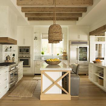 Double Kitchen Islands, Transitional, kitchen, Eric Olsen Design