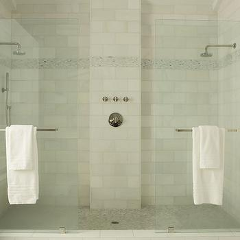 His and her shower heads transitional bathroom angie for Bathroom design quad cities