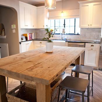 Salvaged Wood Island, Transitional, kitchen, Tess Fine