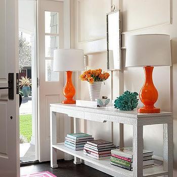 Orange Lamps, Transitional, entrance/foyer, BHG