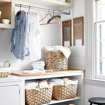 Laundry Room Sorters, Country, laundry room, Country Living