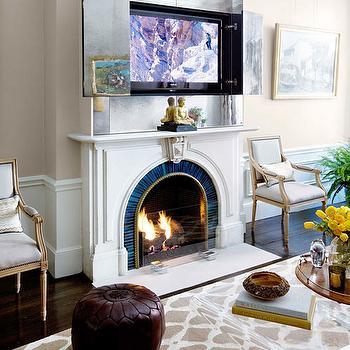 Hidden Tv Over Fireplace Design Ideas