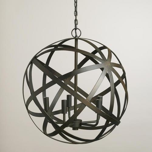 Metal orb black chandelier aloadofball Image collections