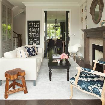 Cream Sofa, Transitional, living room, Kelly Deck Design