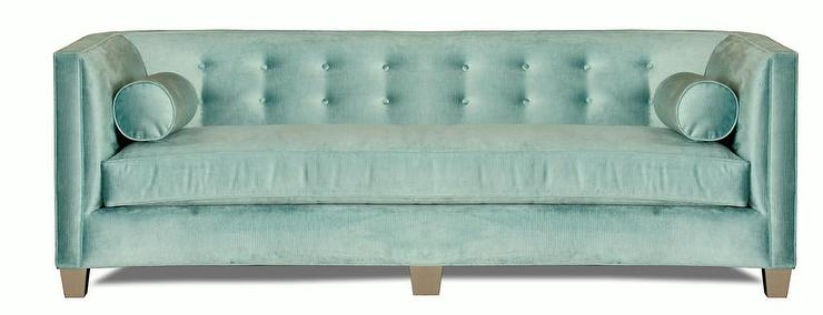 Fabulous Kelly Blue Tufted Curve Sofa GJ31