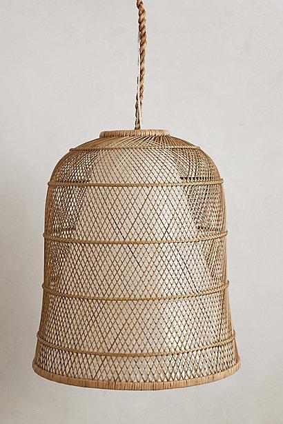 Honeycomb Tan Jute Pendant Lamp