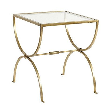 London Brass End Table