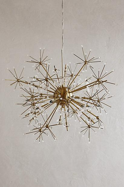 Orbit Brass Chandelier:Dandelion Orbit Brass Chandelier,Lighting