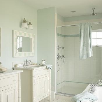 Sea glass wall color design ideas for Sea green bathroom ideas