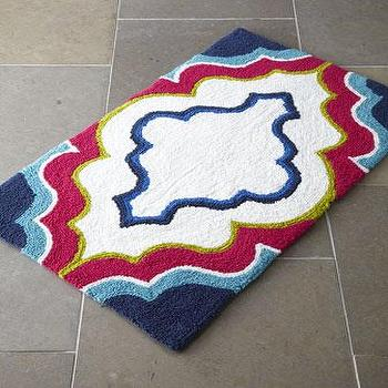 Zigzag Reversible Bath Rug Garnet Hill
