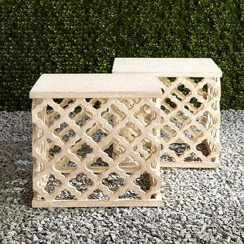 Moroccan Garden Stool I Horchow