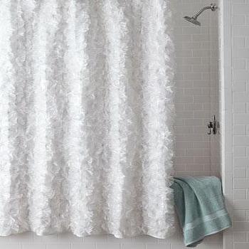 White Flower Power Shower Curtain I Horchow