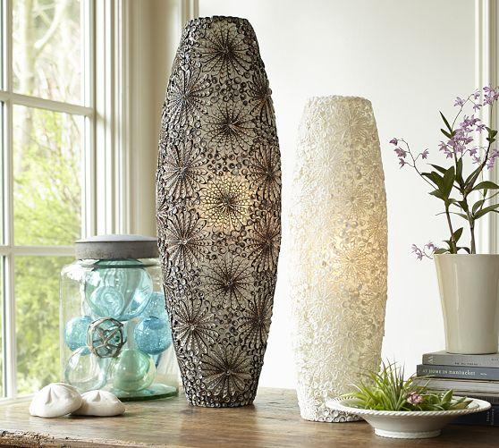 Kai shell ambient silver cylinder table lamps mozeypictures Gallery