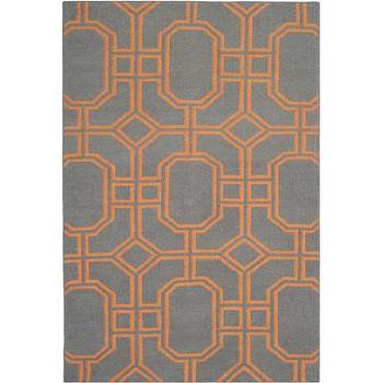 Safavieh Dhurries Blue/Orange Rug, Wayfair