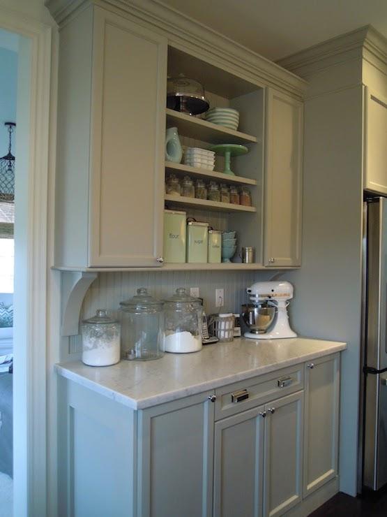 Gray Beadboard Transitional Kitchen Martha Stewart Bedford Gray Chris Kaufmann