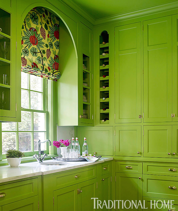 Green Cabinets Contemporary Kitchen Benjamin Moore
