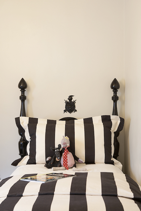 Black And White Striped Bedding Eclectic Boy 39 S Room