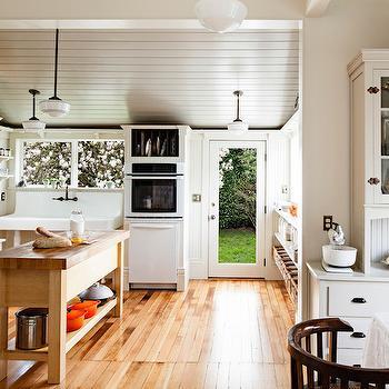 Gray Plank Ceiling, Transitional, kitchen, Pratt and Lambert Chalk Gray, Vicki Simon Interior Design