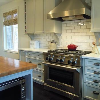 Bedford Gray Cabinets, Transitional, kitchen, Martha Stewart Bedford Gray, Chris Kaufmann