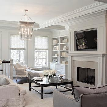 Fireplace Built Ins, Transitional, living room, Leo Designs Chicago