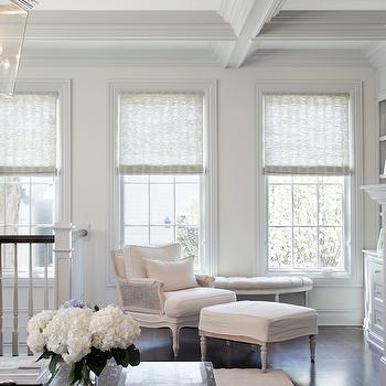 Gray Roller Shades, Transitional, living room, Leo Designs Chicago