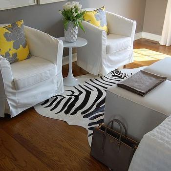 Yellow and Gray Bedrooms, Transitional, bedroom, Benjamin Moore Galveston Gray