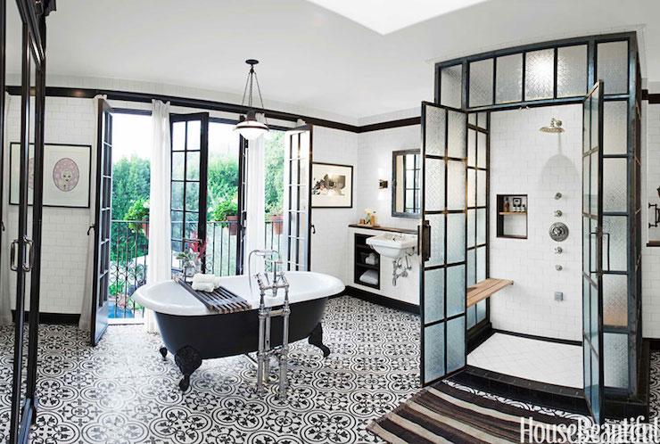 Black And White Quatrefoil Tiles