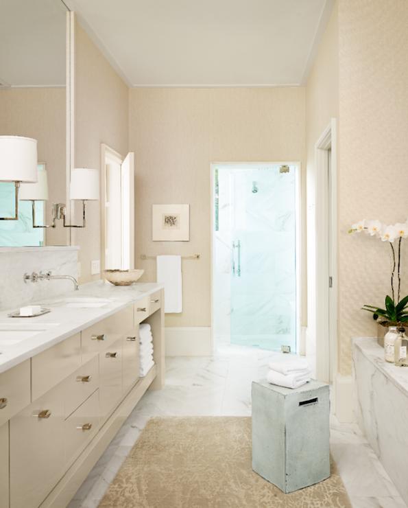 White And Beige Bathroom
