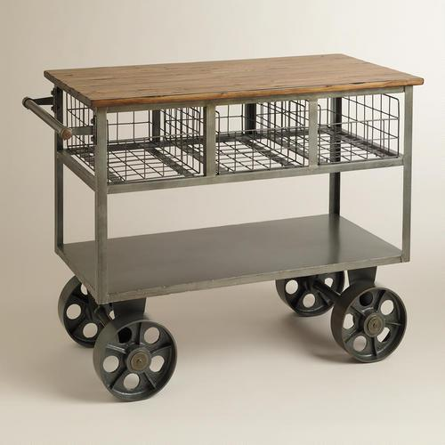 Superb Bryant Grey Mobile Kitchen Cart