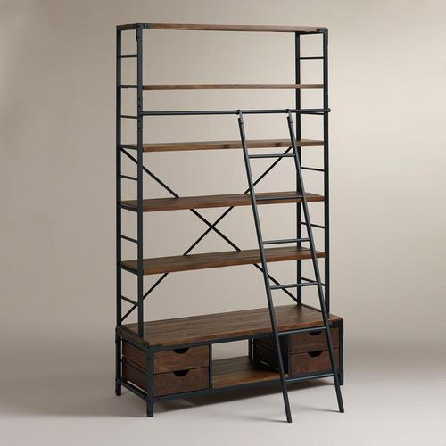 lucas reclaimed wood bath ladder storage pottery barn. Black Bedroom Furniture Sets. Home Design Ideas