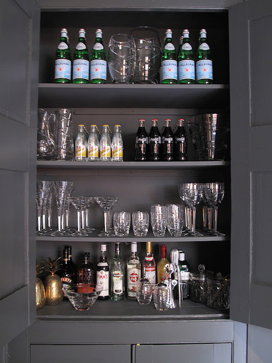 Bar area design ideas for Built in drinks cabinet