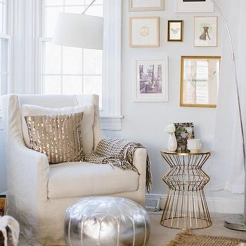 Gold Moroccan Pouf Design Ideas