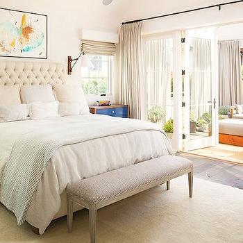 Ivory Tufted Headboard, Transitional, garage, Domaine Home