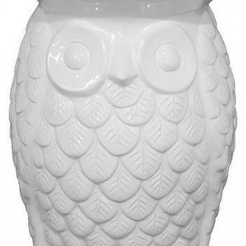 Ceramic Vintage Lantern Owl White By Modclay On Etsy