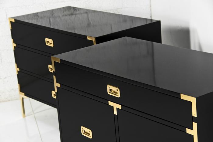 Jet Setter Black Side Tables