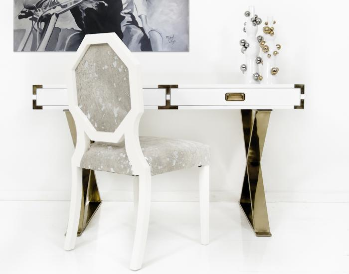 Gloss White Desk Desk Water Fountain