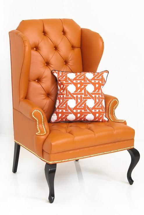 Enjoyable Brixton Orange Wing Chair Gmtry Best Dining Table And Chair Ideas Images Gmtryco
