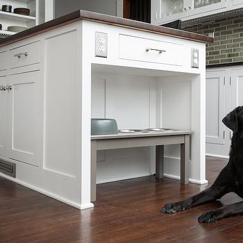 Hidden Pet Food Bowls Traditional Kitchen West End