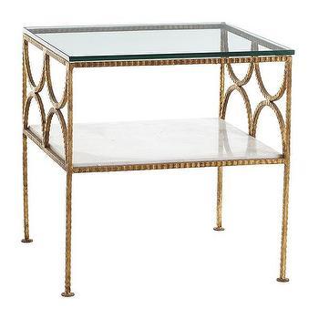 Gold Fitzgerald Table, Wisteria