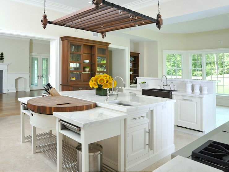 Island Pot Rack Transitional Kitchen Sotheby S Realty
