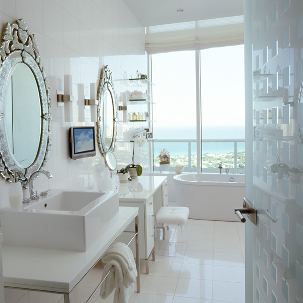 White Lacquer Vanity Great Ideas