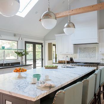Seafoam Green barstools, Transitional, kitchen, Fiorella Design
