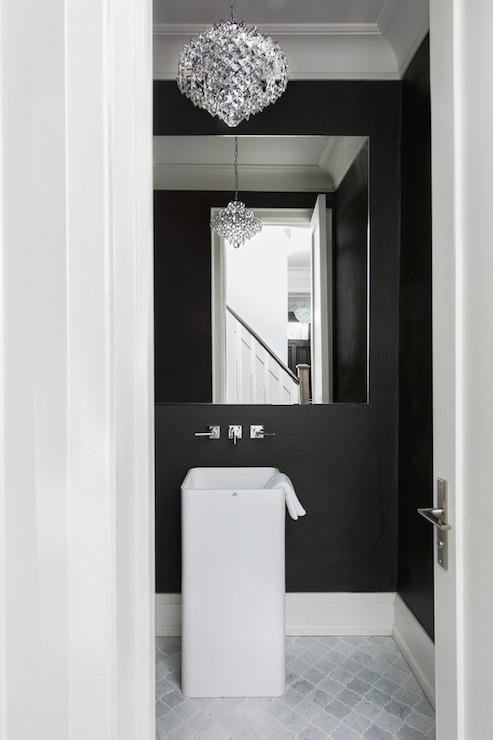 Black Grasscloth Wallpaper - Contemporary - bathroom ...