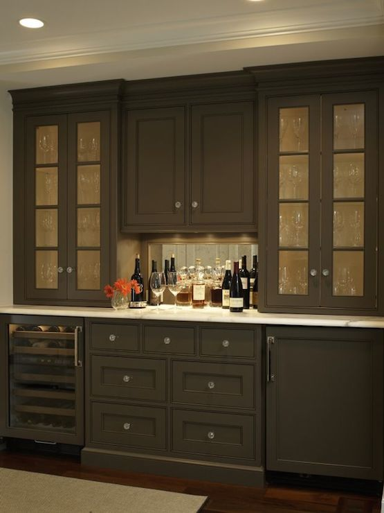 Hidden Liquor Cabinet Eclectic Dining Room
