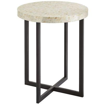 Charmant Mother Of Pearl Ivory Accent Table